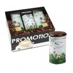 Promopack Puro DECAF gemalen koffie + koffiesierblik